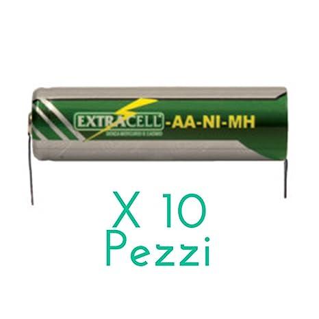 Kit 10 batería capacitivo Ni-MH 1,2 V 1200 mAh con láminas a