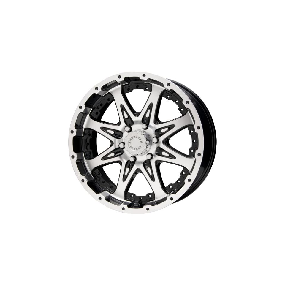 American Outlaw Buckshot Black Machined Face Wheel with Machined Finish (18x8.5/6x139.7mm)