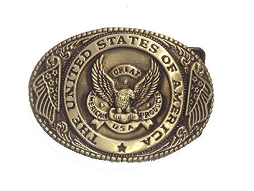 U.s. Eagle Men's Belt Buckles Metal Western American Bolo Tie for Leather Belt (Eagle Metal Belt Buckle)