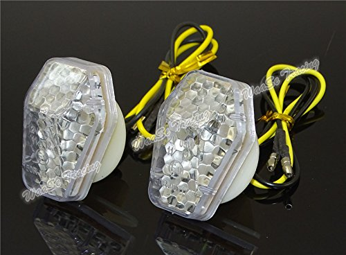- waase LED Flush Mount Turn Signal Indicator Light Blinker For Suzuki GSXR600 GSXR750 GSXR1000 SV650 SV650S SV1000 SV1000S Bandit 600S 1200S 1250 1250S DL650 DL1000 (Clear)