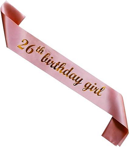 Amazon.com: Magjuche – guirnalda de 26 cumpleaños para niña ...