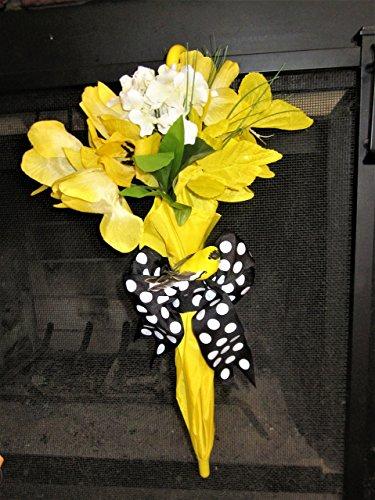 Spring Door Wreath, Spring Wreath, Andrea Lapins Art, Umbrella Door Hanger, Spring Door Hanger, Spring wreath Ideas, Wreaths for Doors, Umbrella Wreath, Custom Door (Umbrella Wreath)