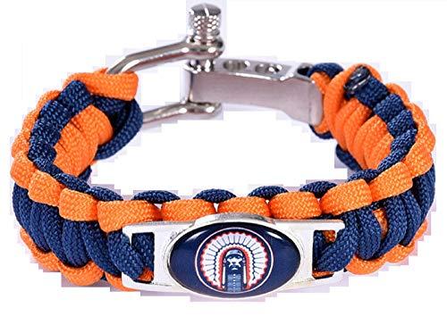 (Swamp Fox Illinois Fighting Illini Paracord Bracelet Adjustable with Insert Pin 7