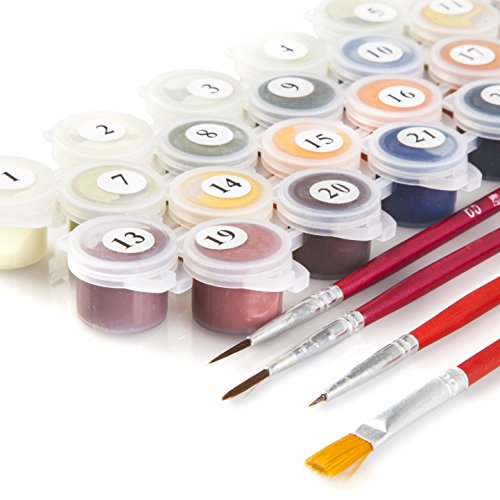 diy paint by numbers kit for adults beginner to advanced number