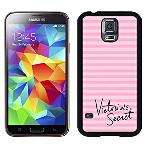 BESTER Unique Samsung Galaxy S5 Case Design with Victoria's Secret Love Pink 05 Black Phone Case for Samsung Galaxy S5