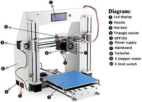 Aurora 3D Máquina Impresora Escritorio Kit DIY Marco Chapa Traje ...