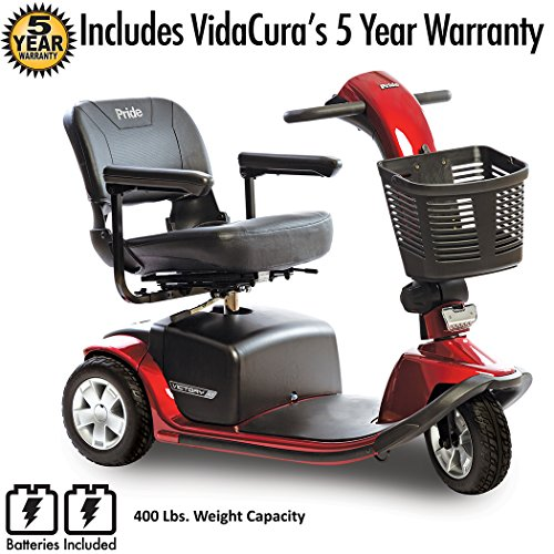 Pride Mobility Victory 10 3-Wheel Scooter Incl 5 Year Pro...
