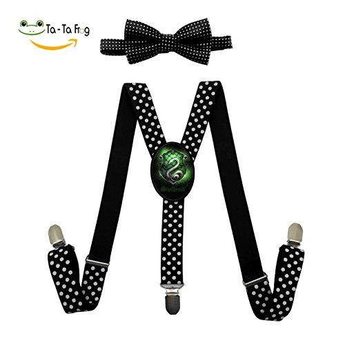 Slytherin Fashion Kids Boys Girls Suspender Unisex Elastic Adjustable Suspender Y-Back Suspenders
