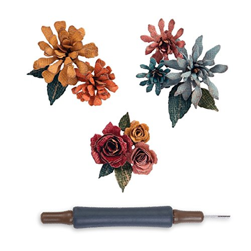Sizzix Thinlits Die, Tiny Tattered Florals by Tim Holtz, 15 Pack