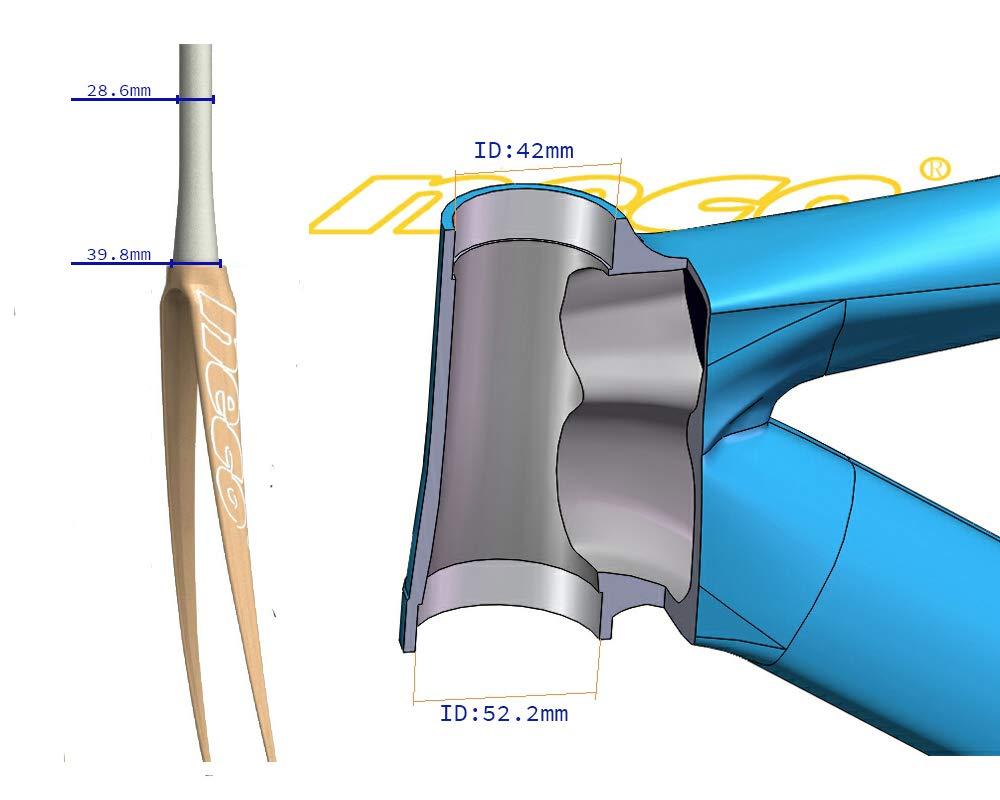 "NECO 1-1//8/"" Carbon Fiber Campy Campagnolo Compatible 42mm Road Bike Headset"