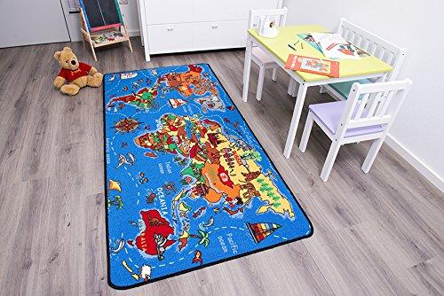 Spielteppich Kinderteppich - Weltkarte 1,30 x 2,00