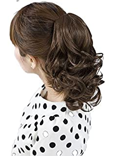 Outstanding Amazon Com Onedor 12 Curly Synthetic Clip In Claw Ponytail Hair Hairstyles For Men Maxibearus