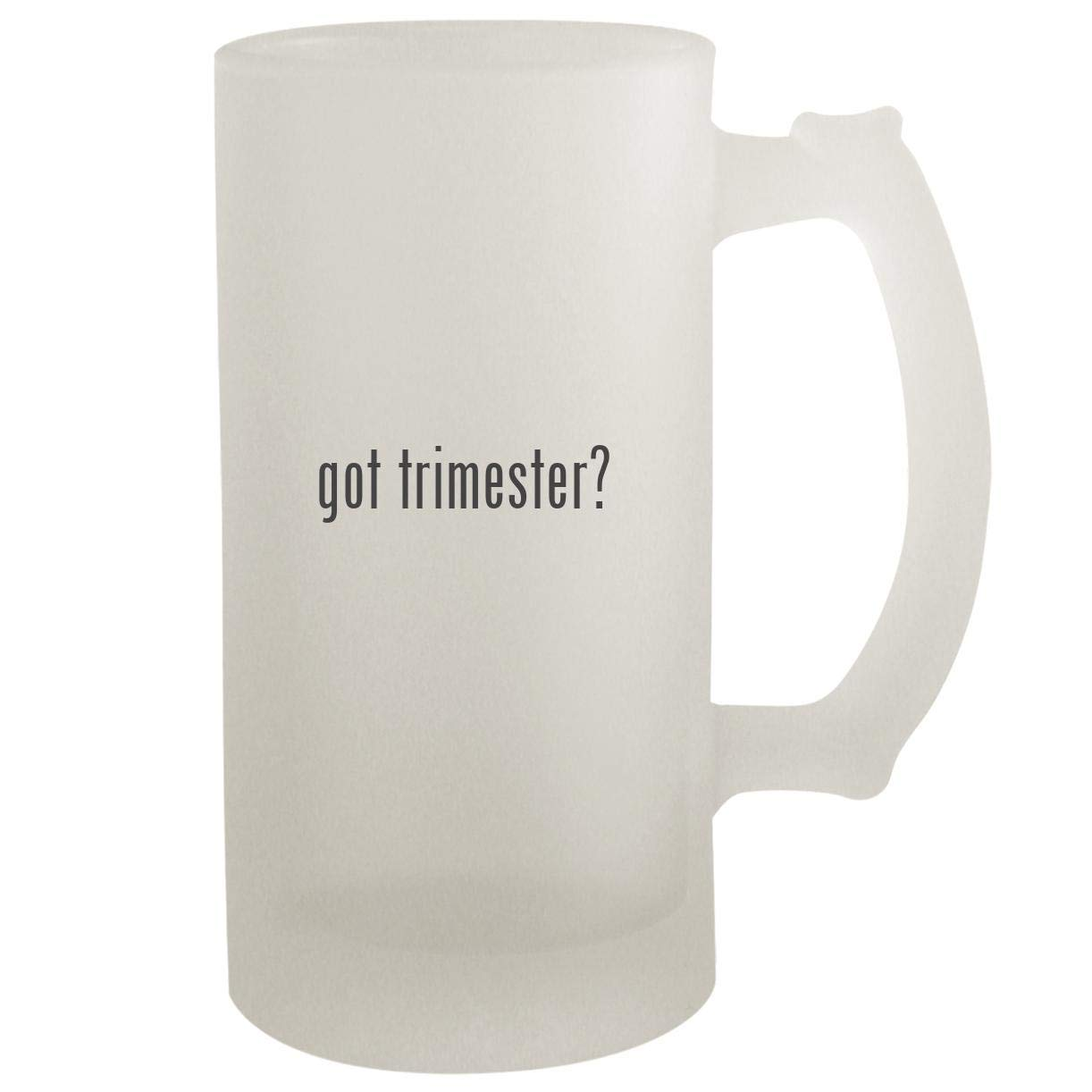 got trimester? - Frosted Glass 16oz Beer Stein