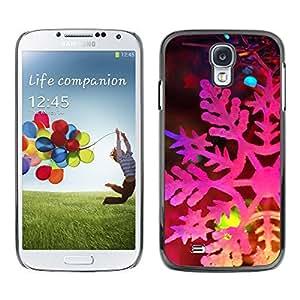 YOYO Slim PC / Aluminium Case Cover Armor Shell Portection //Christmas Holiday Pink Snow Flake 1058 //Samsung Galaxy S4