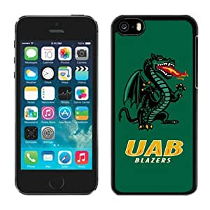 Customized Iphone 5c Cheap Case Cover Ncaa Conference USA UAB Blazers 5 Mobile Accessories