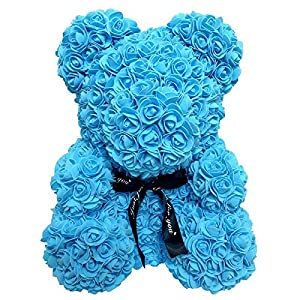 Artificial Flowers Teddy Rose Bear Multicolor Plastic Foam Rose Flower for Valentines Day Gift & Kids Birthday Present 72