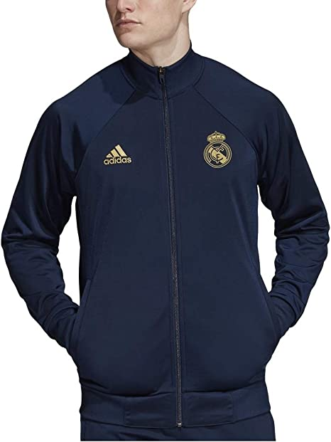 adidas Mens Real Madrid Icons Track Jacket 2019-20 (Small) Night ...