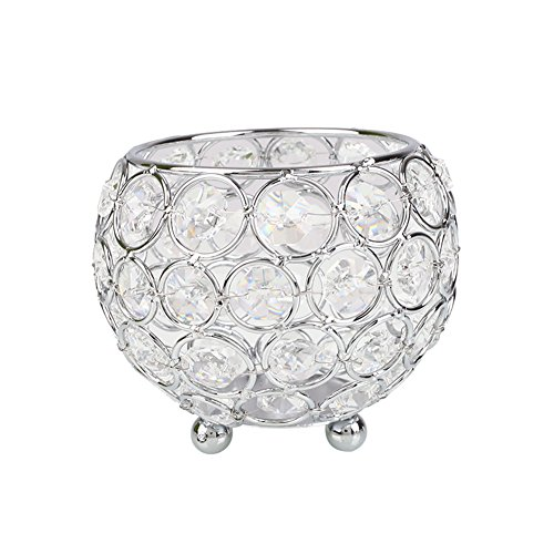 hongfei Crystal Display Vases/Bowl Candleholders/Candle Shade/Glass Lantern for Mother's Day Home Holiday Birthday Gift/Wedding Coffee Table Decorative Centerpiece by hongfei