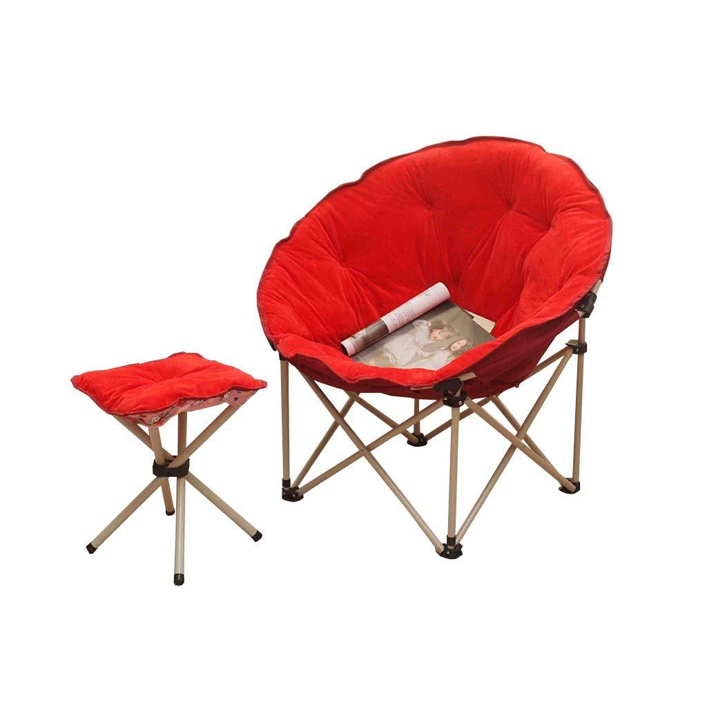 QZ HOME Stühle, Klappstuhl Sonnenliege Mittagspause Stuhl Computer Stuhl Nap Sofa Tragbare Einfache Haushalt Im Freien Mit Füßen (Farbe : ROT)