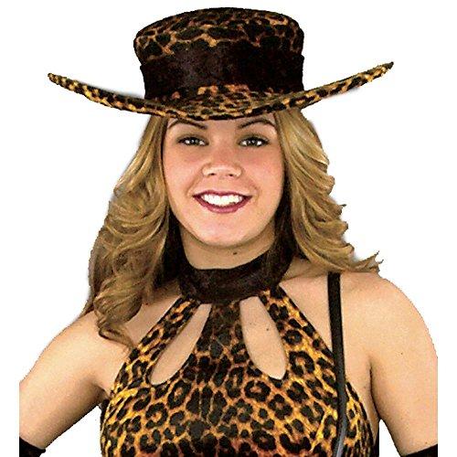 Leopard Pimp Hat (Ladies Leopard Pimp Hat Size: Adult Standard)