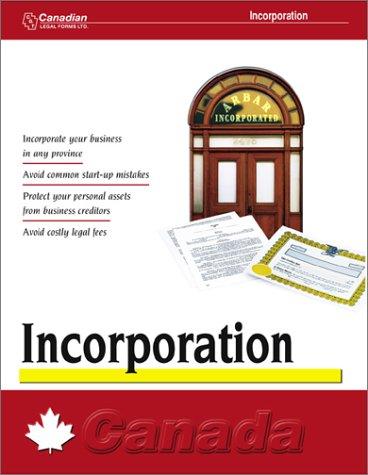 Download Incorporation: Canada pdf