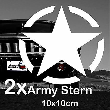 Finest-Folia K013-2 Pegatinas con diseño de Estrella del ejército Estadounidense (10 x 10 cm): Amazon.es: Coche y moto
