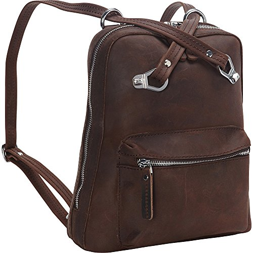 Vagabond Traveler Full Grain Cowhide Leather Backpack-Small Size (Distress) by Vagabond Traveler
