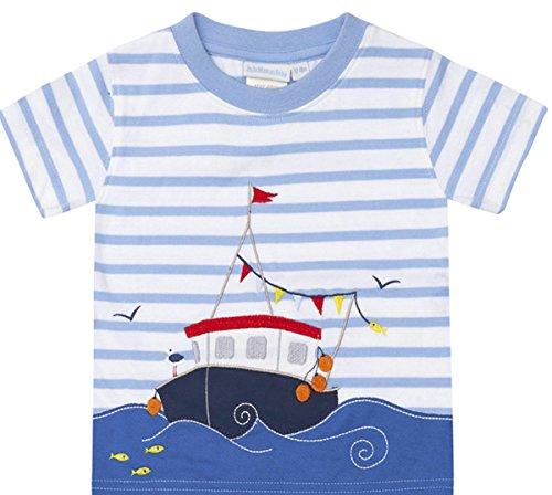 (KIDSALON Little Boys Summer Cotton Strip Short Sleeve T-Shirt Clothes (2T,)
