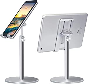 EliteBond Phone Holder Cell Phone Stand Adjustable Holder for Desk Universal Desktop Phone Holder Tablet Stand Sturdy All Aluminum Alloy Stable Phone Holder Compatible with All Mobile Phones