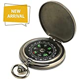 Ding Sheng Yuan Hang Compass Premium Portable Pocket Watch Flip-Open Compass Camping Hiking Compass Outdoor Navigation Tools
