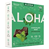 Aloha Organic Protein Bar Chocolate Mint7.6oz( 1.9oz x 4 bars)