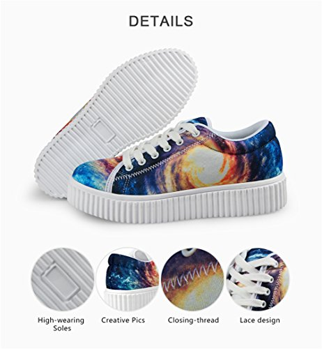 IDEA 12 up Sneakers Lace Women's HUGS Fashion Galaxy Galaxy Shoes Platform vgw1Zd