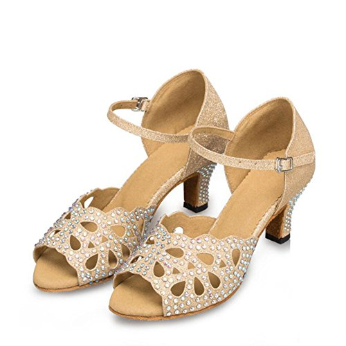 Suede 41 Shoes Sparkling Dance Party amp; Women's Heel Latin Sparkling Shoes Glitter Sandal A A Color Evening Size Glitter Indoor Color IwqHg
