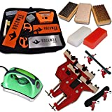 Ultimate Dual Snowboard Ski Race Kit Vise, Iron, 3 Brushes Tools Wax