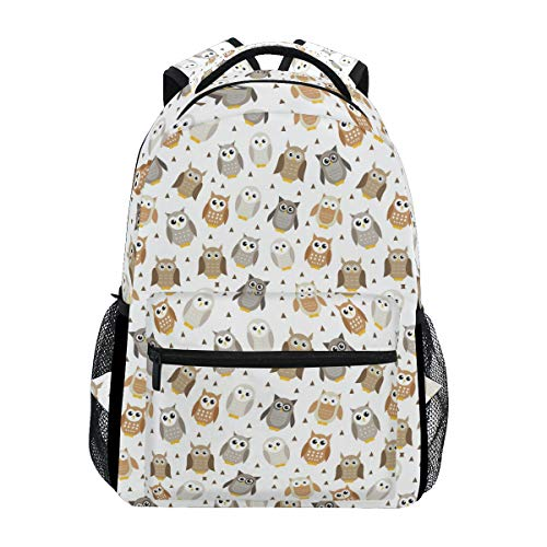Fashion School Backpack Baby Owl 2019 Brown Casual Daypack Large College Bookbag Slim Business Backpack Classic Travel Computer Bag (Best Baby Backpacks 2019)