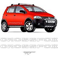 Kit Faixas Crossfox 2006/2007 Adesivo Lateral Prata Volkswagen