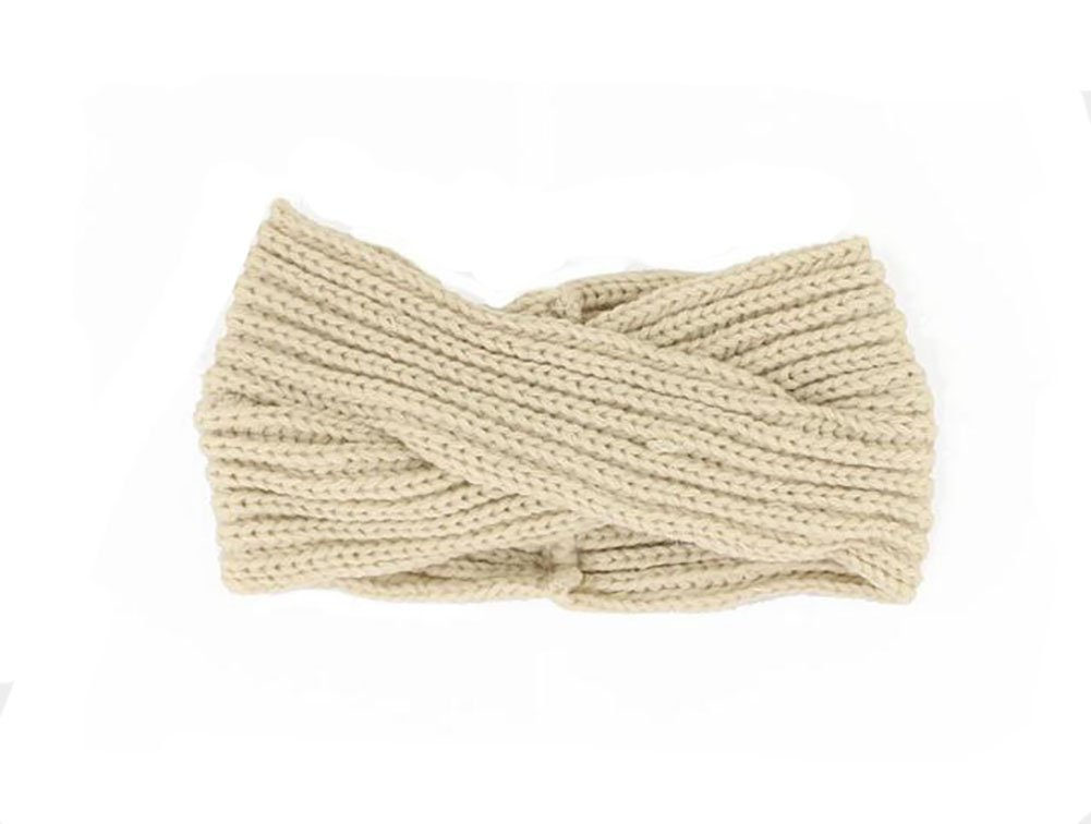 mujeres Twisted Knot Ted Crochet Tejer cinta para la frente ...