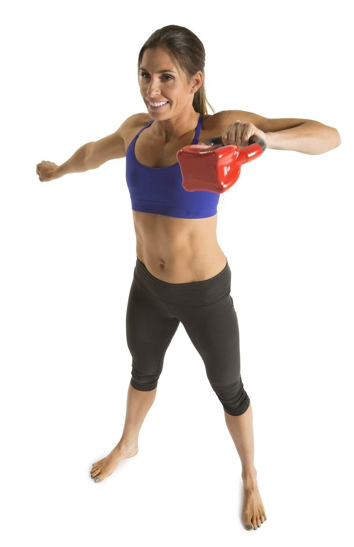 GoFit Kettlebell (Pesa Rusa) con Revestimiento de Vinilo Individual Contorneado con DVD de Entrenamiento GF-CKB15, 6.8 kg, 15Lb, Rojo: Amazon.es: Deportes y ...