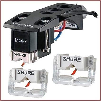 Amazon.com: SHURE M44 – 7H cero DJ turntable cartucho con ...
