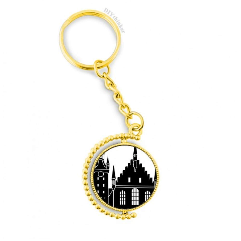 Amazon.com: Llavero de metal con diseño de la catedral de ...