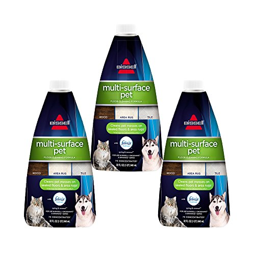BISSELL Multi Surface Pet Floor Cleaning Formula, 3 Pack, Green (Pro Carpet Floor Cleaning)