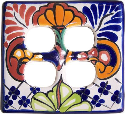 Double Mantel - Mantel Talavera Double Outlet Switch Plate