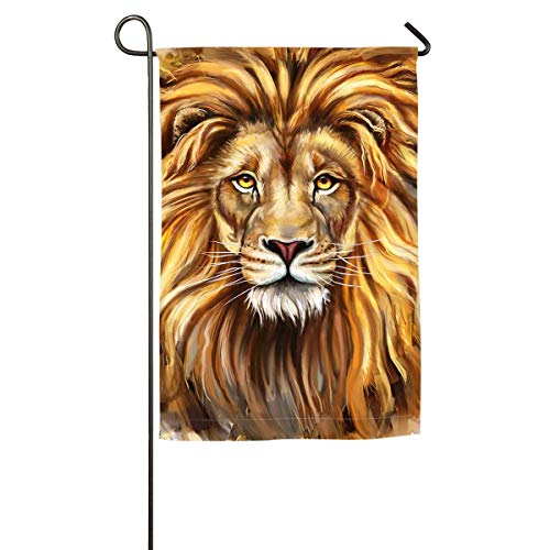 Lion Head .png Floral Garden Yard Flag Banner-Best for Party and Decor -