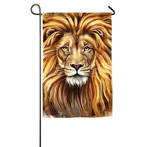Lion Head .png Floral Garden Yard Flag Banner-Best