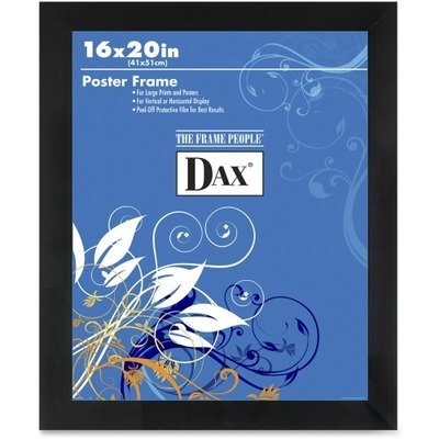 DAX Flat Face Wood Poster Frame with Plexiglas Window, 16 x 20 Inches, Black (2860V2X) by DAX