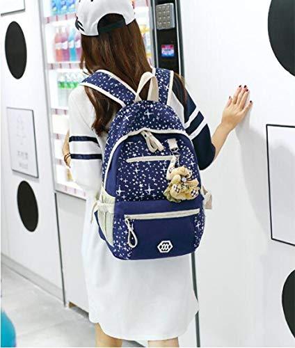 Myll Ragazza green Bags Tela Viaggio Stampa Borsa star Bag A Zaino Scuola Blue Di Sacchetti Messenger Crossbody Spalla Tre qpBxwncqHC