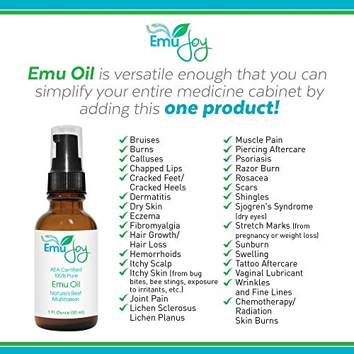 Pure Emu Oil by Emu Joy - Dry Skin Tattoo and Piercing