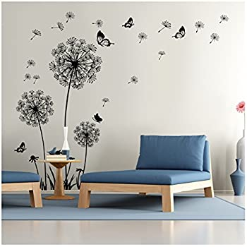 Superb Dandelion Wall Decal   Wall Stickers Dandelion Art Decor  Vinyl Large Peel  And Stick Mural Part 15