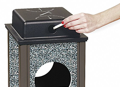 - Rubbermaid Retrofit Weather Urn Top For Steel Stone Panel Receptacles - Fits 12-Gallon Receptacles
