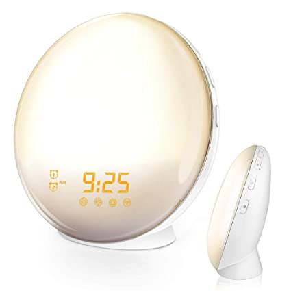 Amazon.com: ILYO Wake up Light Alarm Clock, Sunrise Analog ...